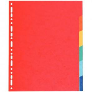Jeu de 6 intercalaires à touches neutres en carte lustrée 220g format A4+