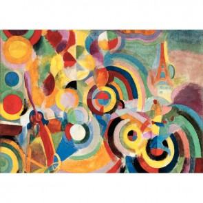 Puzzle en bois d'environ 50 pièces, HOMMAGE A BLERIOT de Robert DELAUNAY