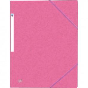Chemise 3 rabats à élastiques TOP FILE+ en carte lustrée 4/10e 390g, rose