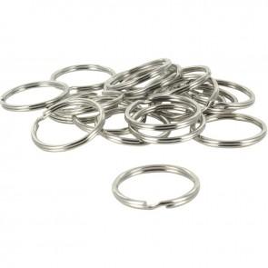 Sachet de 20 anneaux de jonction argentés, diamètre 24 mm