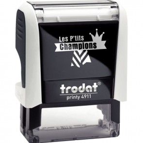 """Tampon Les P'tits Champions, formule """"Champion de mathématique"""""""