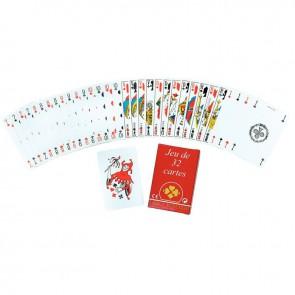 Jeu de 32 cartes sous étui carton