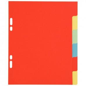 Jeu de 6 intercalaires à touches neutres 17x22 cm carte lustrée 225 g couleurs assorties