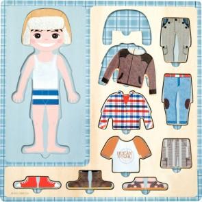 Puzzle petit garçon s'habille