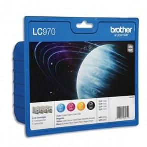 BROTHER LC 970 d'origine pack des 4 COULEURS