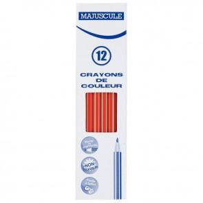 Boîte de 12 crayons de couleur Majuscule  rouge