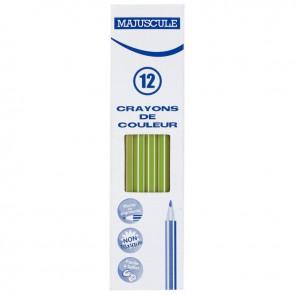 Boîte de 12 crayons de couleur Majuscule vert clair