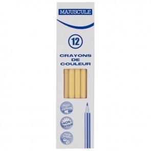 Boîte de 12 crayons de couleur Majuscule beige clair