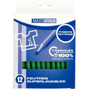 Pochette de 12 feutres pointe moyenne vert clair