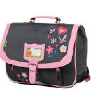 Cartable Tann's 35 cm GRIS FLOWERS