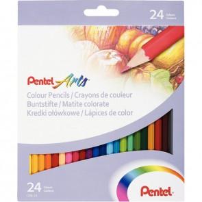 Etui de 24 crayons de couleur assortis