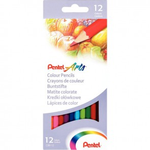 Etui de 12 crayons de couleur assortis