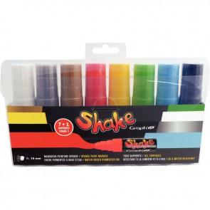 Set de 8 marqueurs peinture Shake XL 16mm dont 1 gratuit