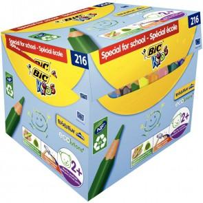 Maxi classpack de 216 crayons de couleurs Evolution triangulaire pointe moyenne dont 30 gratuits