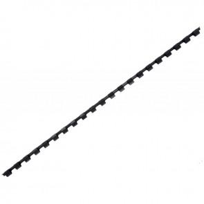 Boîte de 100 anneaux à relier/peignes à relier, diamètre 6 mm noir