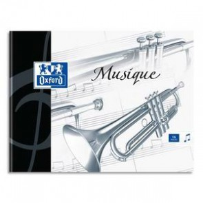 Cahier de musique ESSENTIAL 24 pages grands carreaux+24 pages portées 17x22cm. Couverture carte (Default)