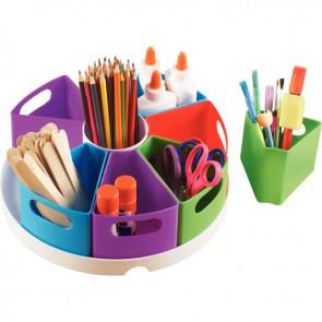 Carrousel de rangement 9 compartiments pour matériel de création