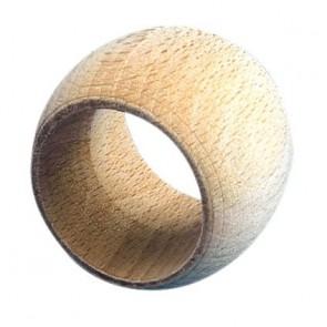 Lot de 10 ronds de serviette bombés en bois diamètre 4 cm