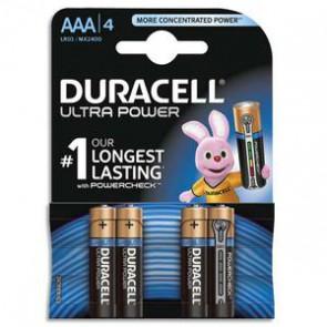 DURACELL Blister de 4 piles Alcalines 1,5V AAA LR03 Ultra Power Duralock 5000394002692