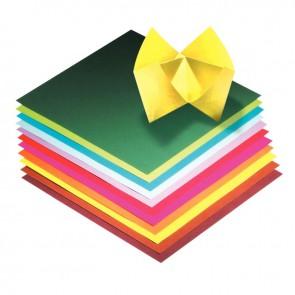 Pochette de 100 feuilles de papier pour pliage origami format 20 x 20 cm couleurs assorties