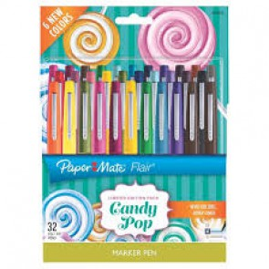 Stylos pointe feutre Flair CANDY POP pochette de 16