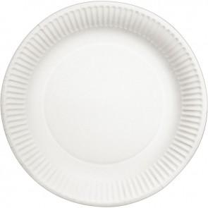 Paquet de 50 assiettes rondes plastifiée en carton 23cm