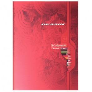Cahier de dessin 32 pages format 17x22 cm papier blanc uni 120g