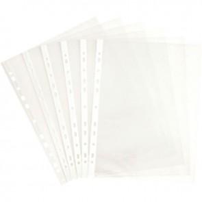 Carton de 500 pochettes perforées en polypropylène 5/100ème aspect grainé format A4 à classer