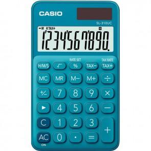 Calculatrice de poche Casio 10 chiffres SL-310UC bleu