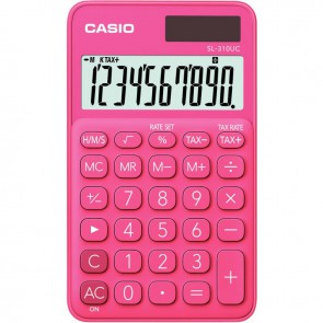 Calculatrice de poche Casio 10 chiffres SL-310UC rose