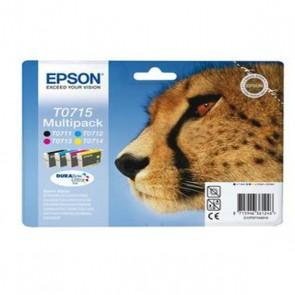 EPSON Origine Multipack des 4 couleurs T0715 Léopard