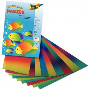 Pochette de 10 feuilles de papier arc-en-ciel, format 22,5 x 32 cm
