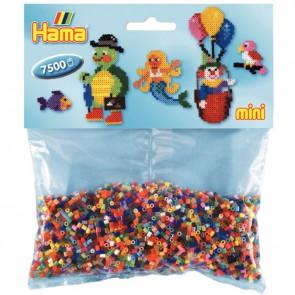 Sachet de 7 500 perles Hama à repasser taille mini coloris assortis