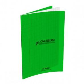 Cahier maternelle 32 pages à grands carreaux Seyès  couverture plastique verte en 90g. Marque Hamelin