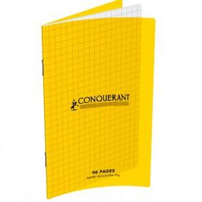 Carnet piqué format 11x17 petits carreaux 5x5 couverture plastique jaune marque OXFORD