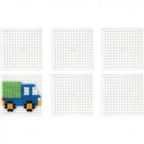 Sachet de 6 plaques carrées pour perles Hama taille midi
