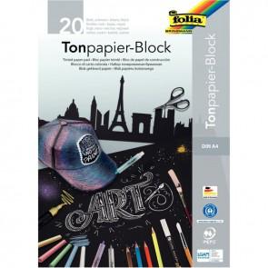 Bloc de 20 feuilles de papier couleur 21x29,7 cm 130 g  noir