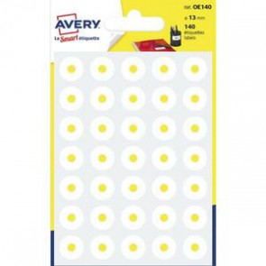 AVERY Sachet de 140 œillets diamètre 13 mm blanc