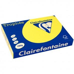 Paquet de 250 feuilles de papier 160g de format A3 jaune soleil TROPHEE CLAIREFONTAINE