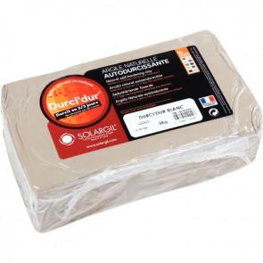 Pain de 5 kg argile naturelle à modeler durci dur blanche