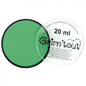 Galet de 20 ml de maquillage aquarellable GRIM'TOUT vert pré