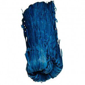 Pelote de 50 g de raphia végétal bleu