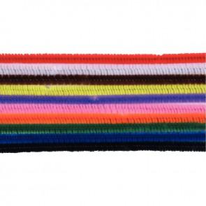 Sachet de 25 chenilles longueur 30 cm diamètre 6 mm couleurs assorties