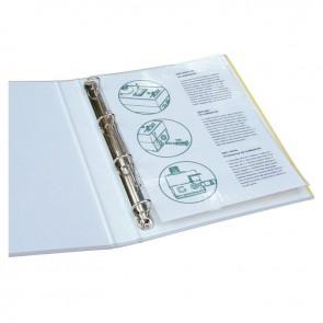 Boite de 100 pochettes à plastifier format 22,8x30,3 cm pour document 21x29,7 cm. En polyester brillant épaisseur 80 microns par face. Avec perforation universelle