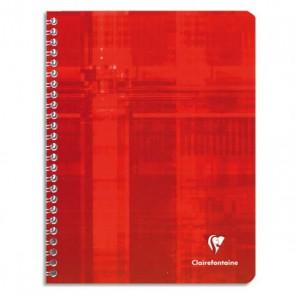 Cahier spirale 17x22 cm 180 pages grands carreaux papier 90g. Ref  CLAIREFONTAINE 68761