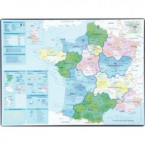 Carte géographique de la France
