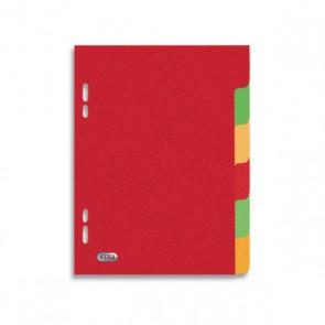 Intercalaires 17x22 cm en carton épais  180g, à 6 touches pour petit classeur écolier.