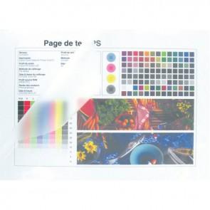 Boite de 100 pochettes à plastifier format 21,6x30,3 cm pour document 21x29,7 cm. En polyester brillant épaisseur 80 microns par face