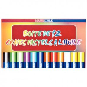Boîte de 12 craies pastels à l'huile couleurs assorties