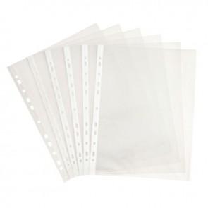 Sachet de 100 pochettes perforées en polypropylène 5/100ème aspect grainé format A4 à classer